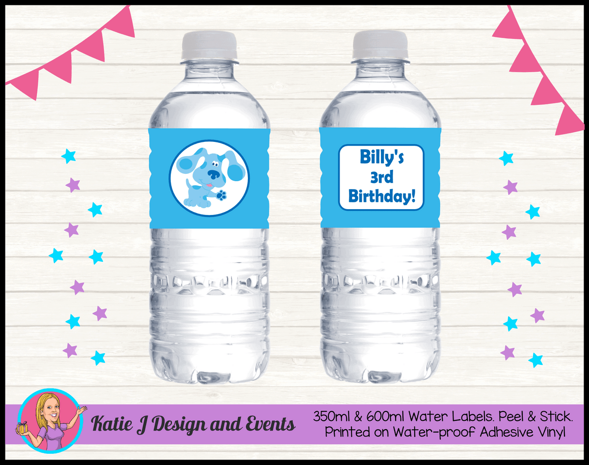 Blue's Clues Personalised Birthday Party Water Bottle Labels