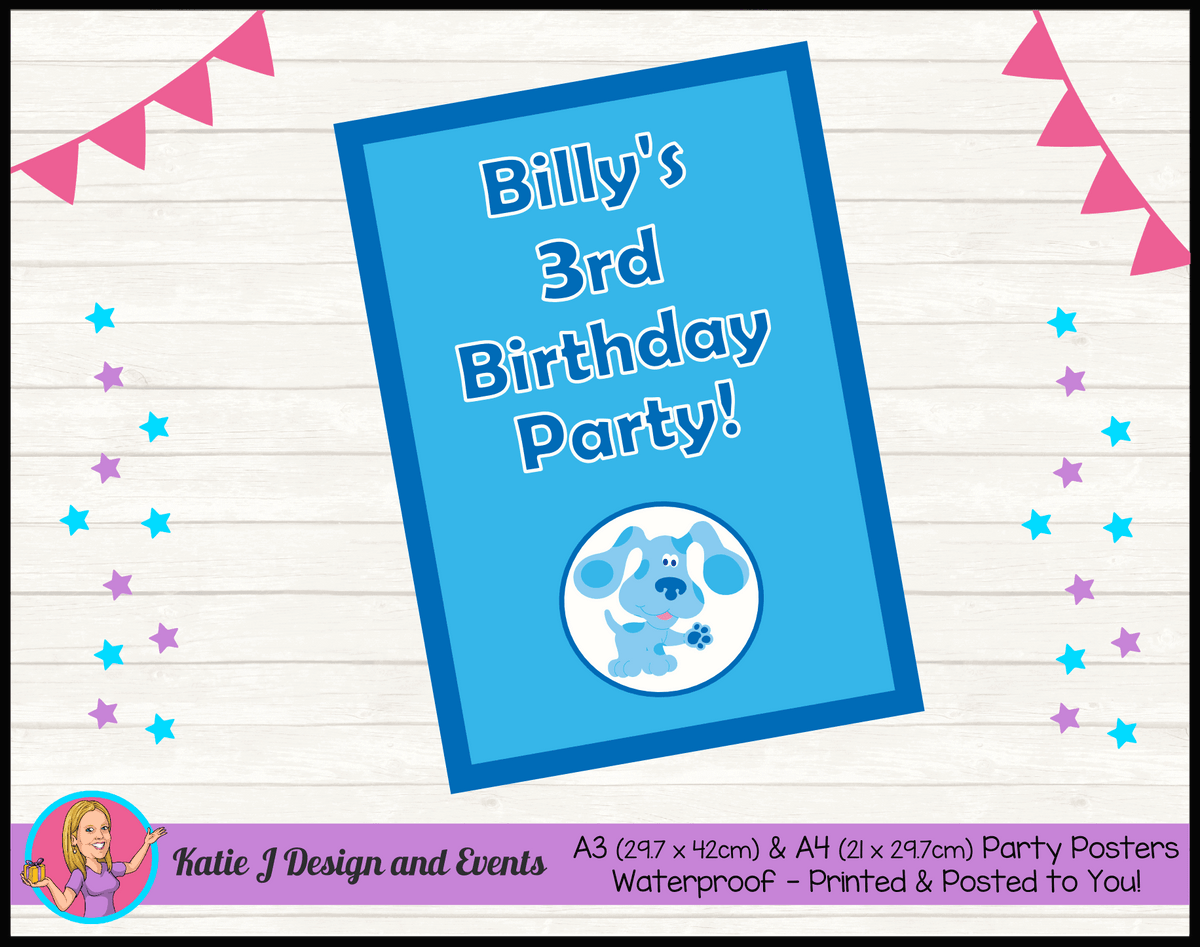 Blue's Clues Personalised Birthday Party Poster