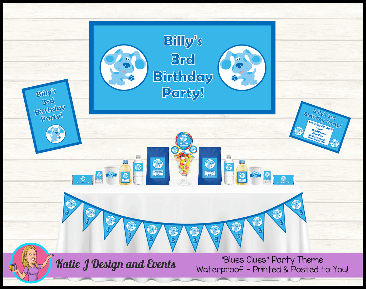 Blue's Clues Personalised Party Packs Decorations Supplies