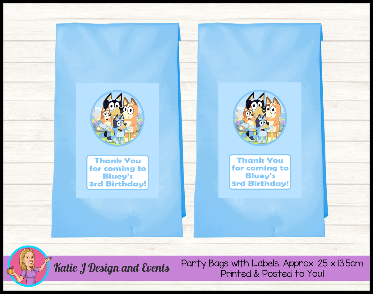Bluey Personalised Birthday Party Loot Bags