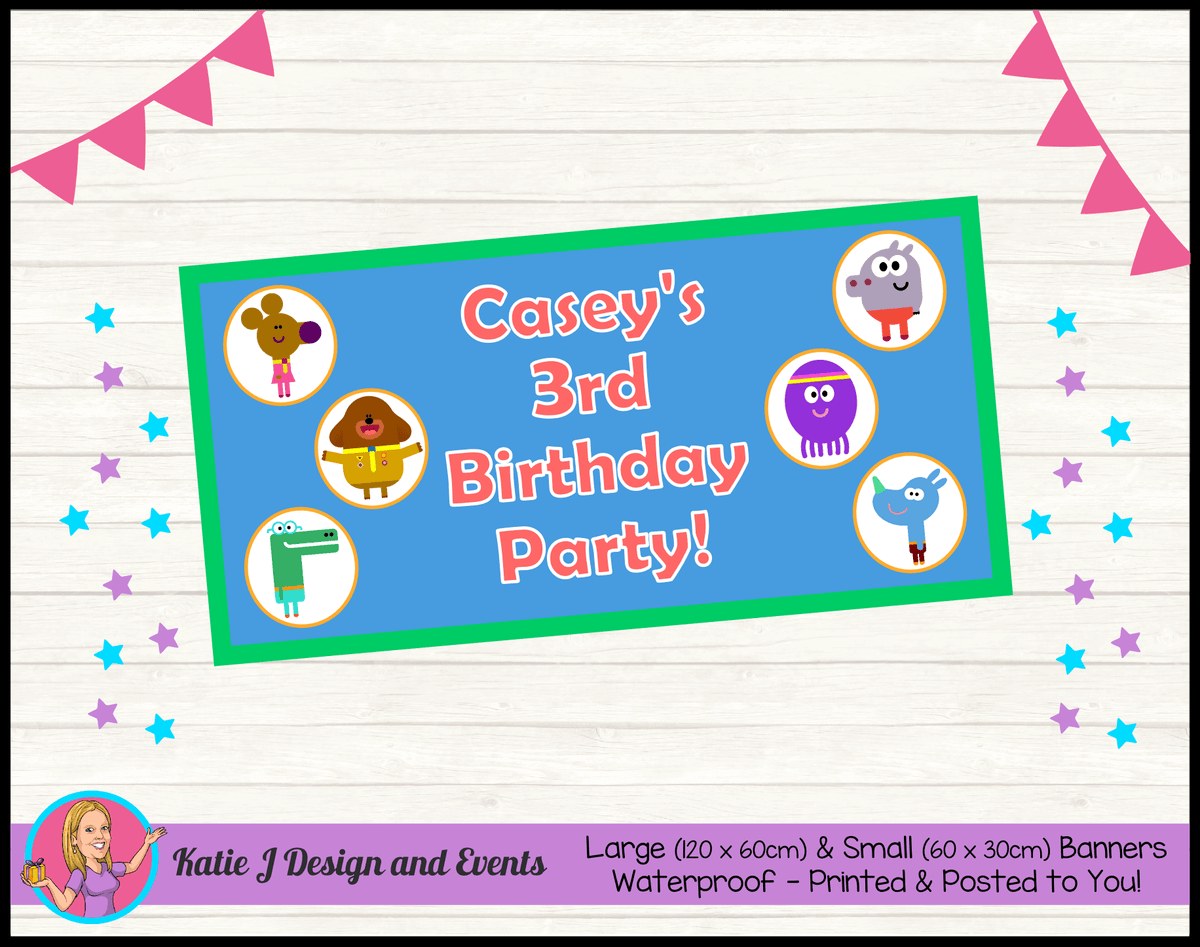Personalised Hey Duggee Birthday Party Banner