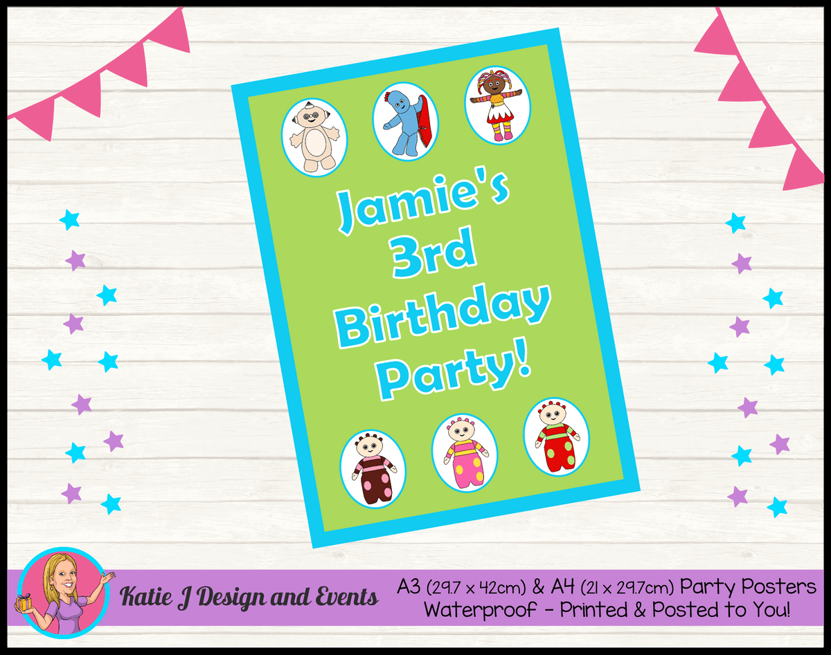 Personalised Boys In the Night Garden Birthday Party Poster