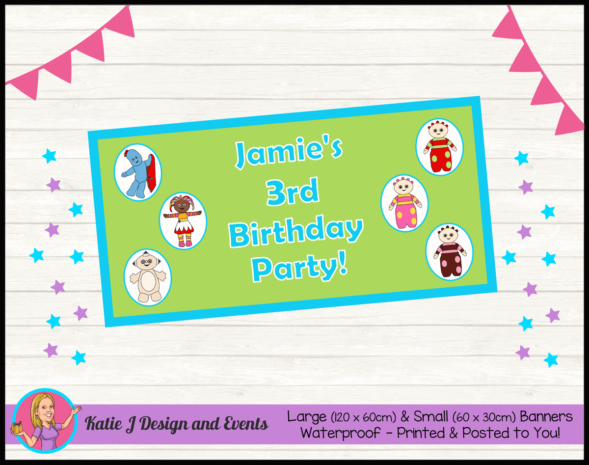 Personalised Boys In the Night Garden Birthday Party Banner