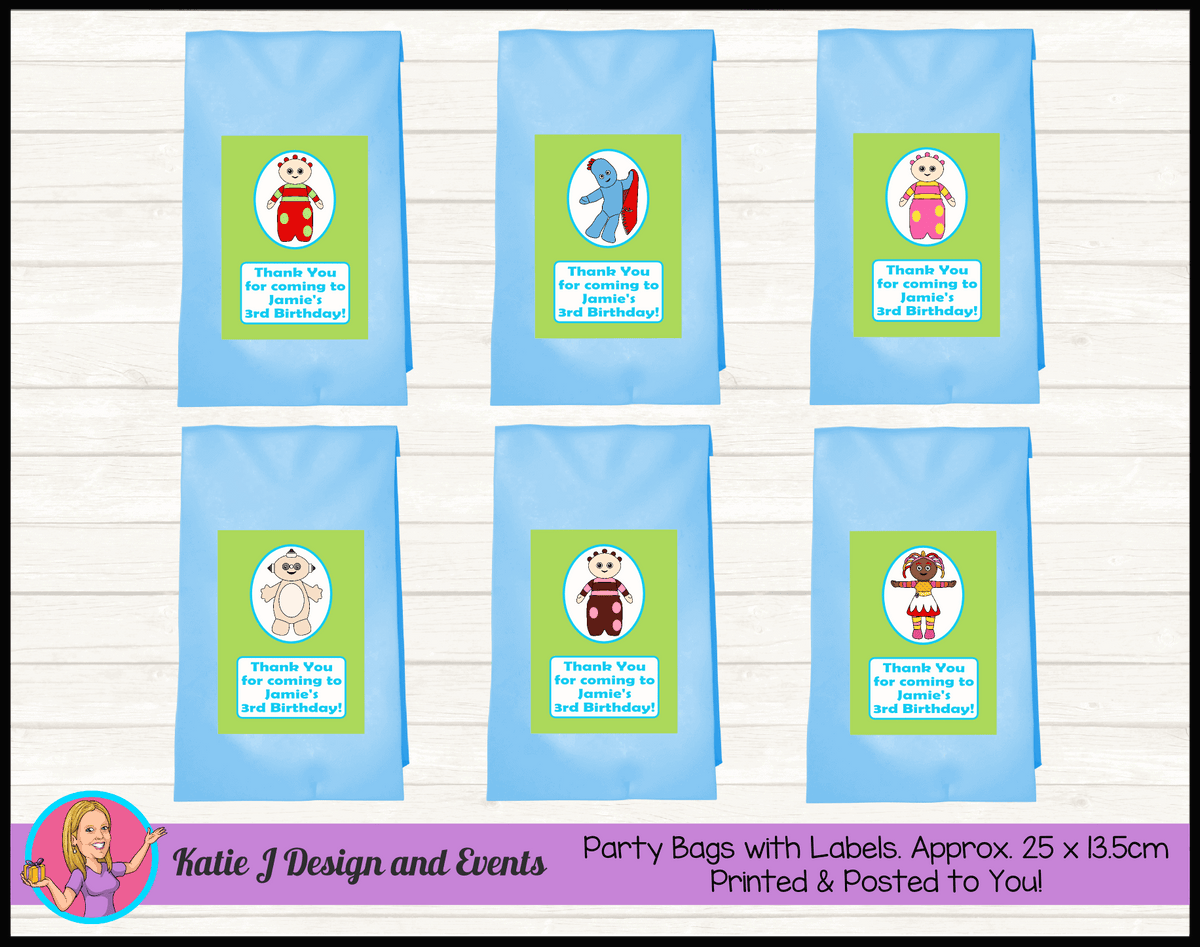 Personalised Boys In the Night Garden Birthday Party Loot Bags