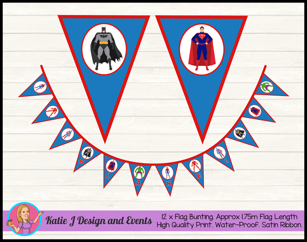 Boys Superheroes Birthday Party Decorations