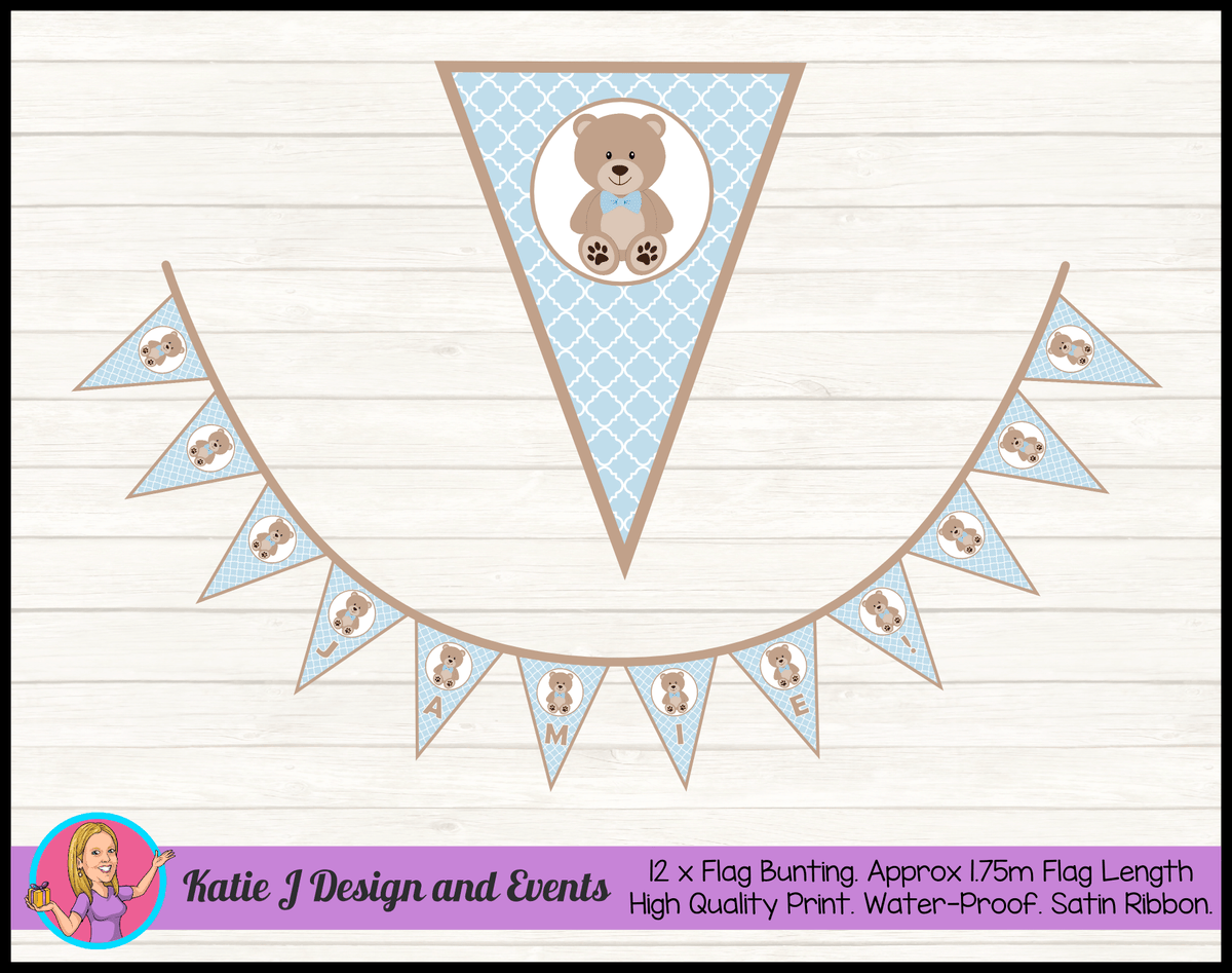 Boys Teddy Bear Naming Day Ceremony Decorations