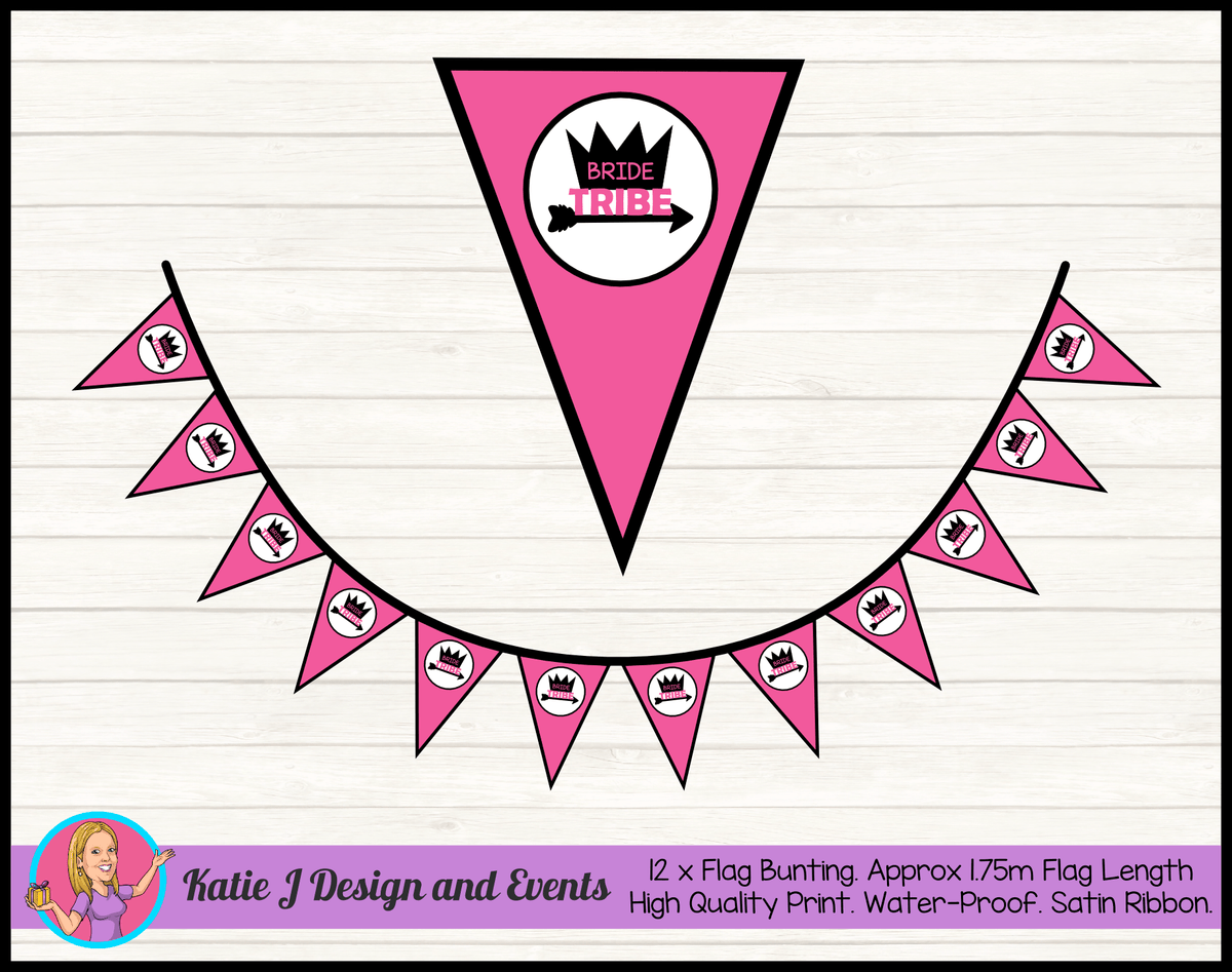 Bride Tribe Personalised Hens Party Flag Bunting