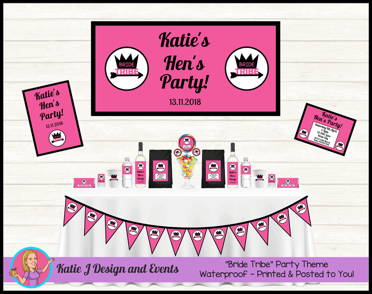 Personalised Bride Tribe Hens Party Packs Decorations Supplies