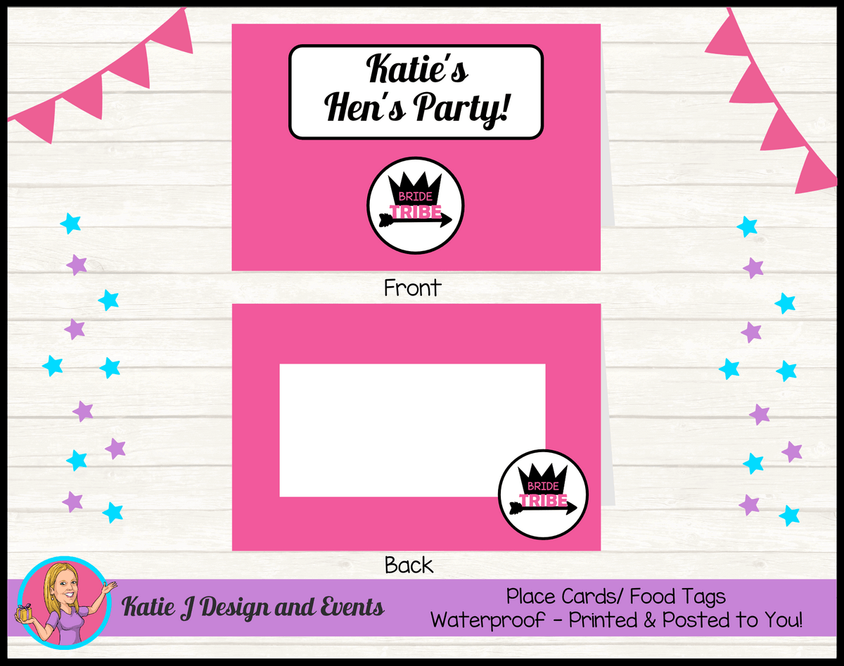 Bride Tribe Personalised Hens Party Place Cards