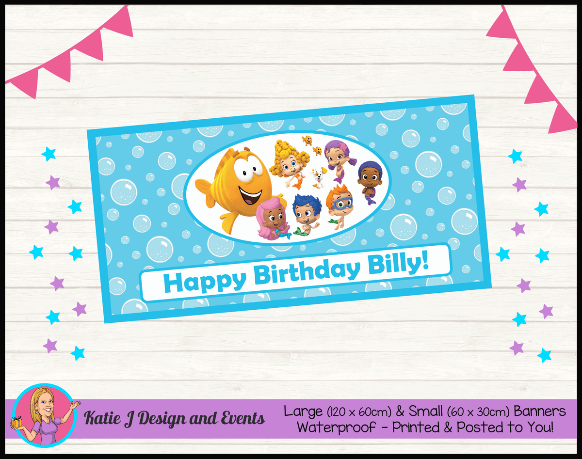 Bubble Guppies Personalised Birthday Party Banners
