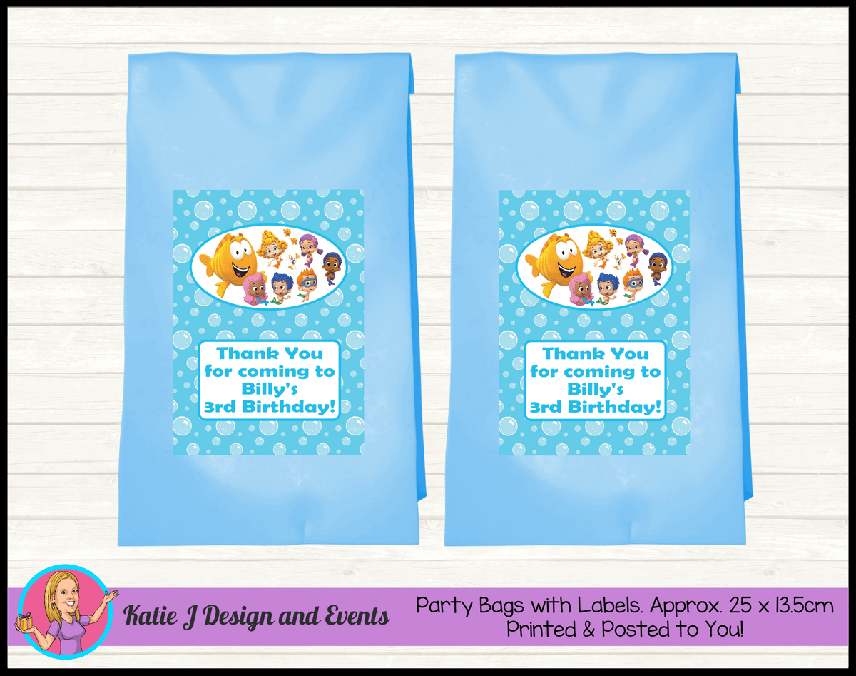 Bubble Guppies Personalised Birthday Party Loot Bags