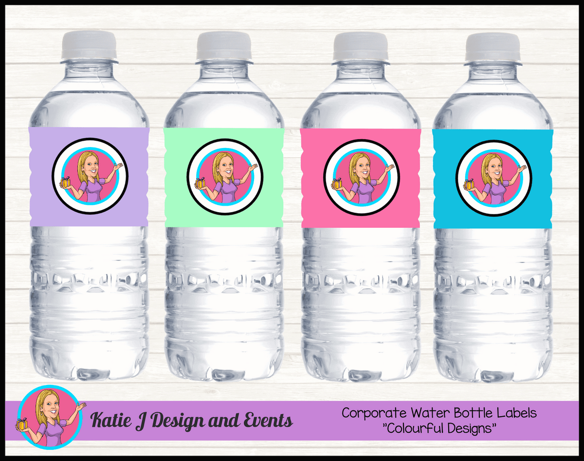 Personalised Corporate & Business Water Bottle Labels with Logo