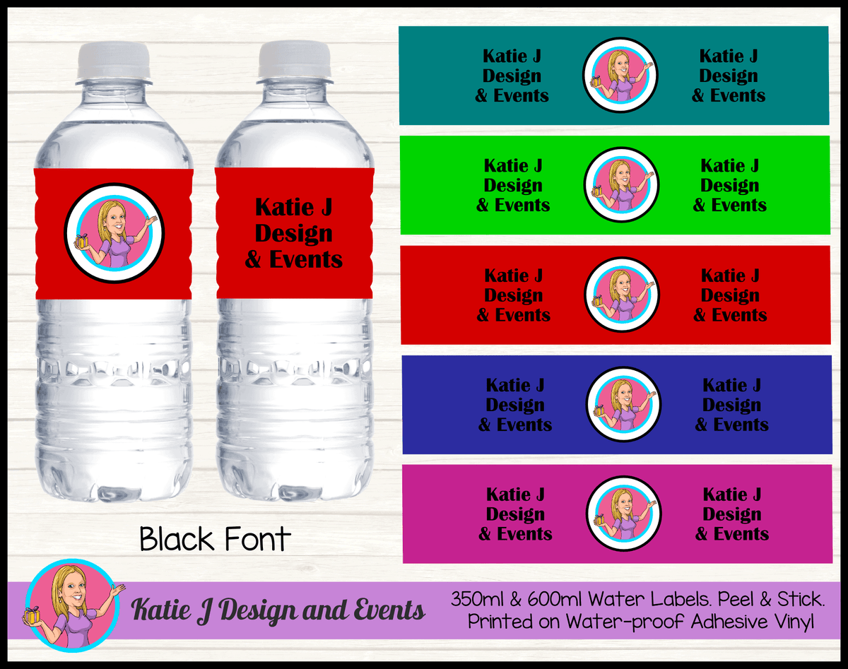 Business Brand Solid Colour Water Labels