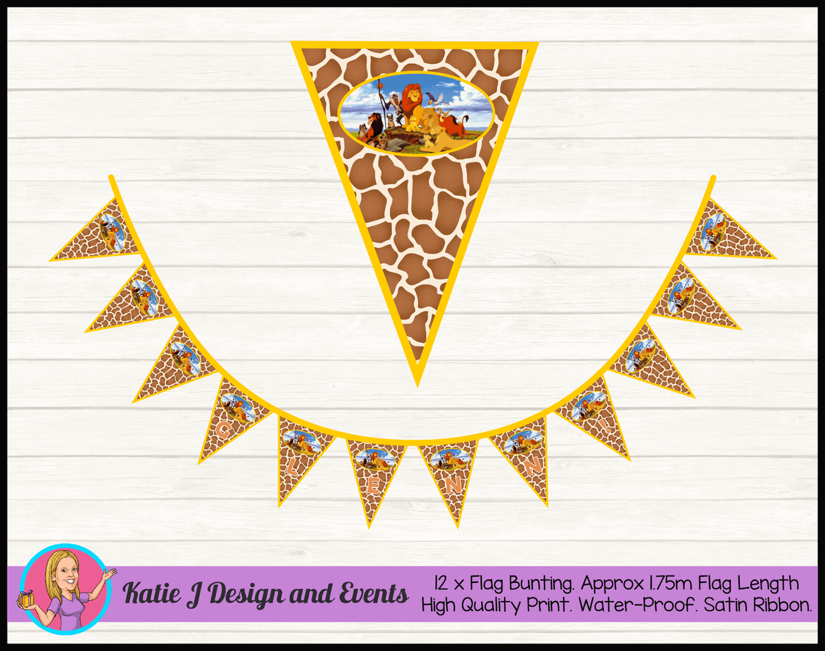 Personalised Classic The Lion King Birthday Party Decorations