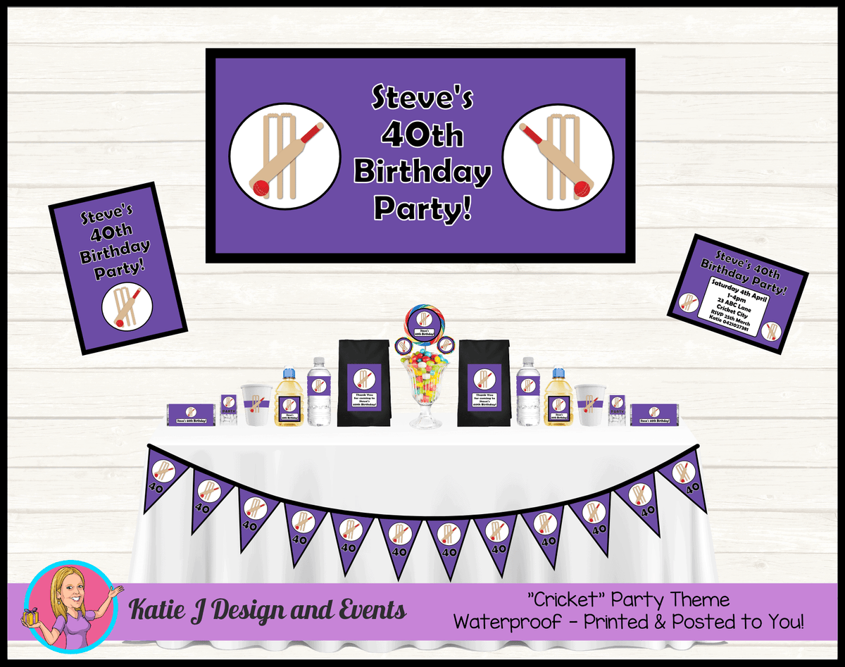 Personalised Kids Boys Hobart Hurricanes Cricket Party Decorations Supplies