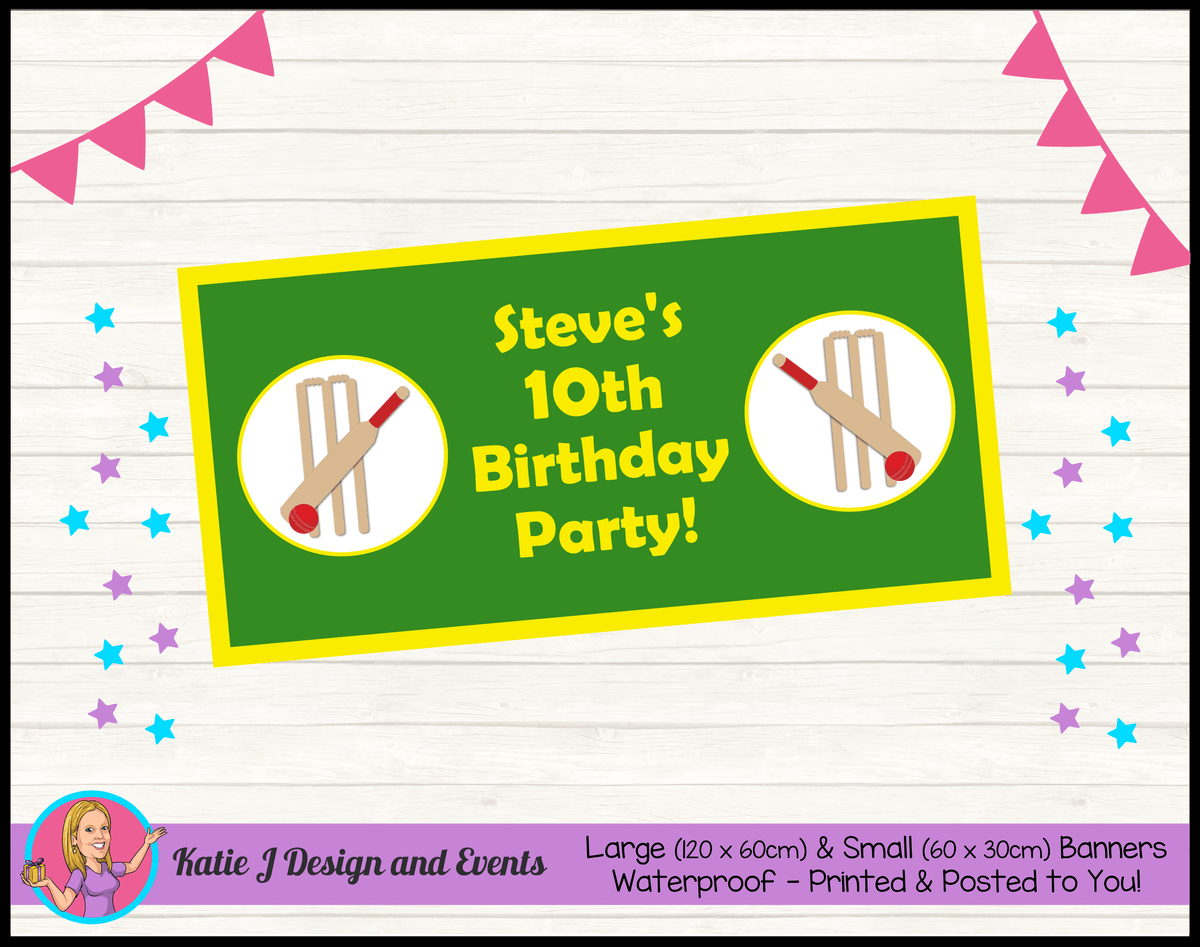 Cricket Kids Birthday Party Decorations