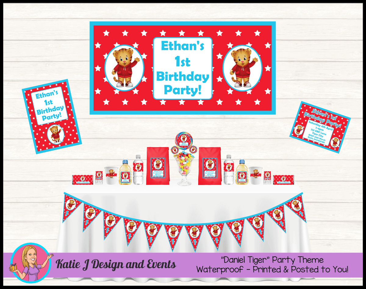 Personalised Daniel Tiger Party Packs Decorations Supplies