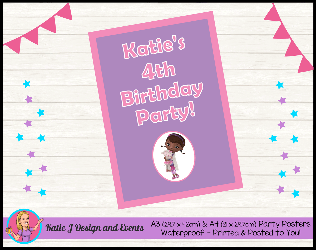 Personalised Doc McStuffins Birthday Party Poster