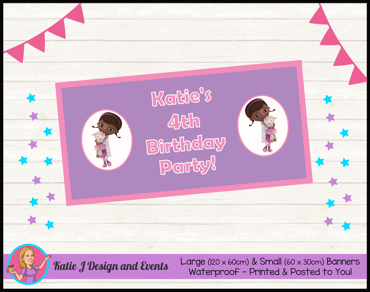 Personalised Doc McStuffins Birthday Party Banners