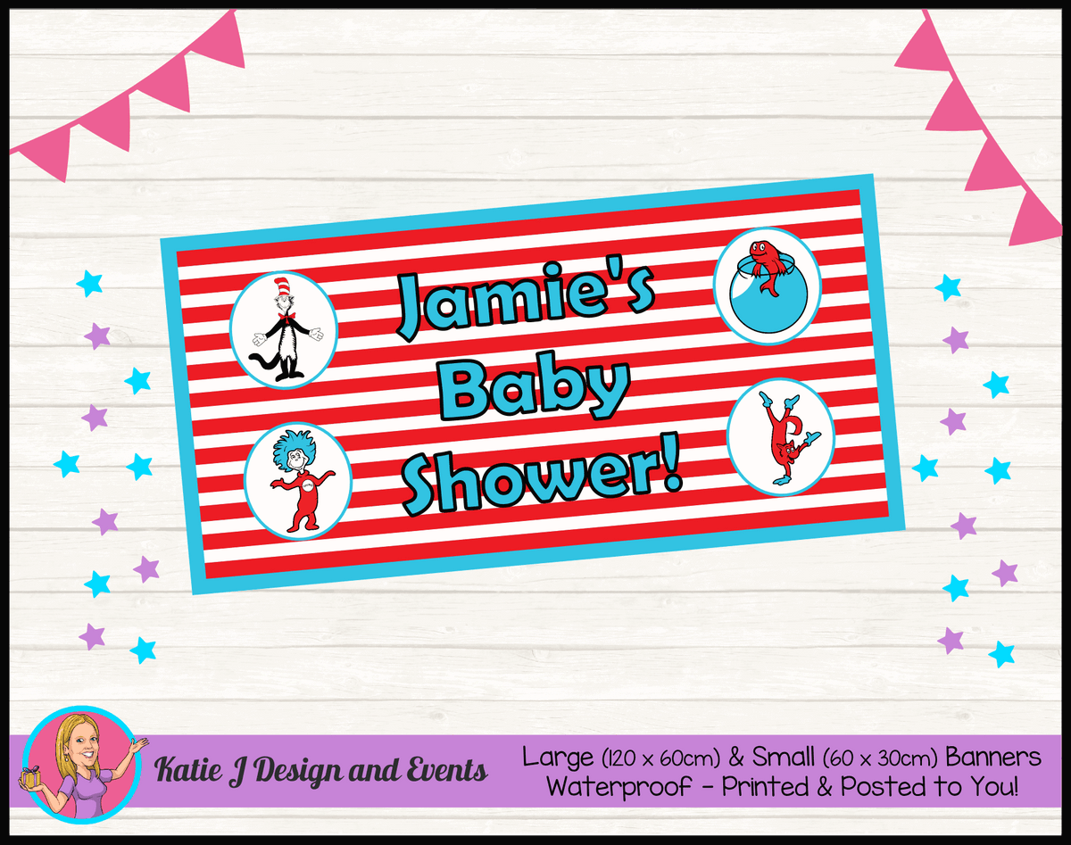 Personalised Dr Seuss Baby Shower Banner