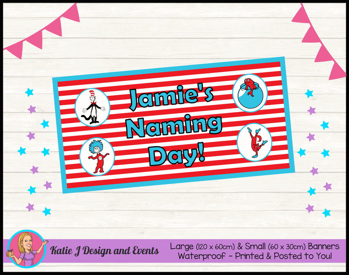 Dr Seuss Personalised Naming Day Banner