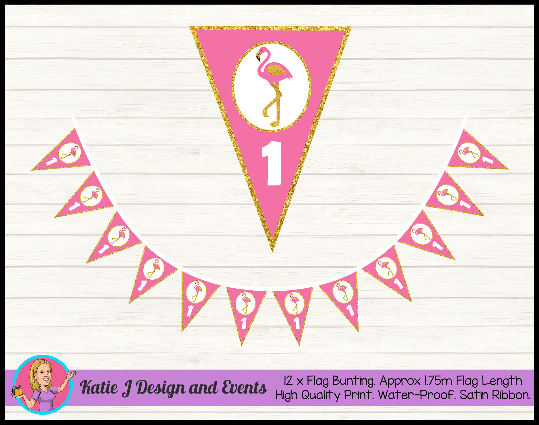 Personalised Pink & Gold Flamingo Party Packs Decorations Supplies