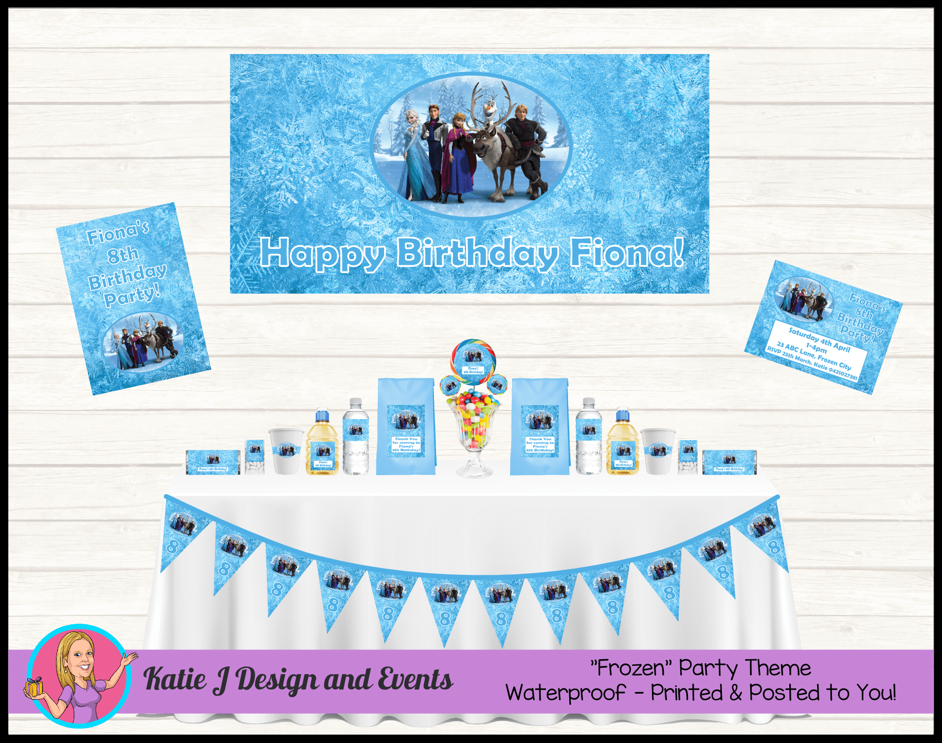 Personalised Frozen Party Packs Decorations Supplies