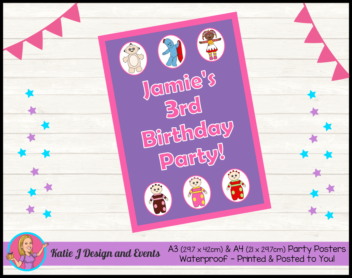 Personalised Girls In the Night Garden Birthday Party Poster