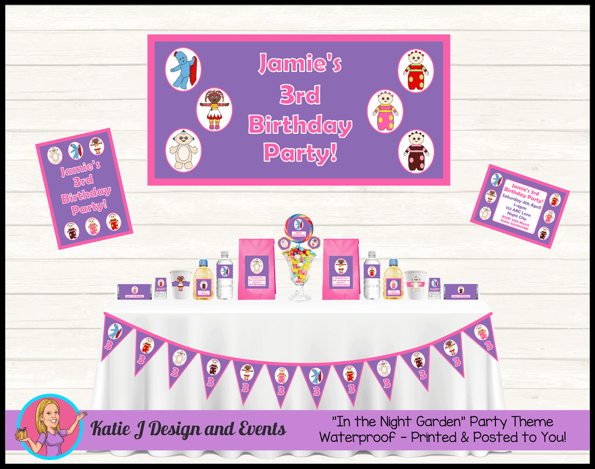 Personalised Girls In the Night Garden Party Packs Decorations Supplies