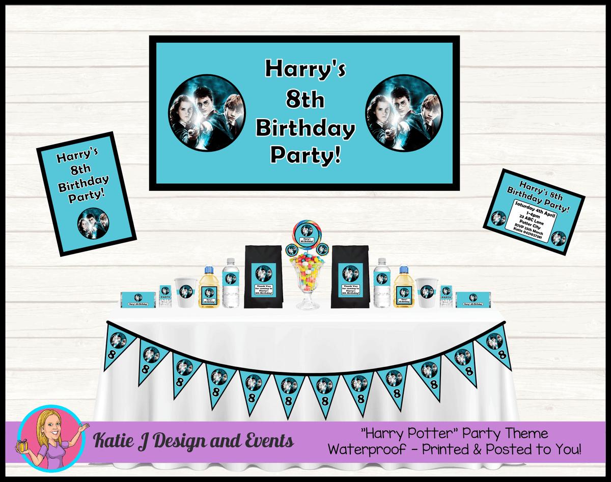 Personalised Boys Harry Potter Party Packs Decorations Supplies