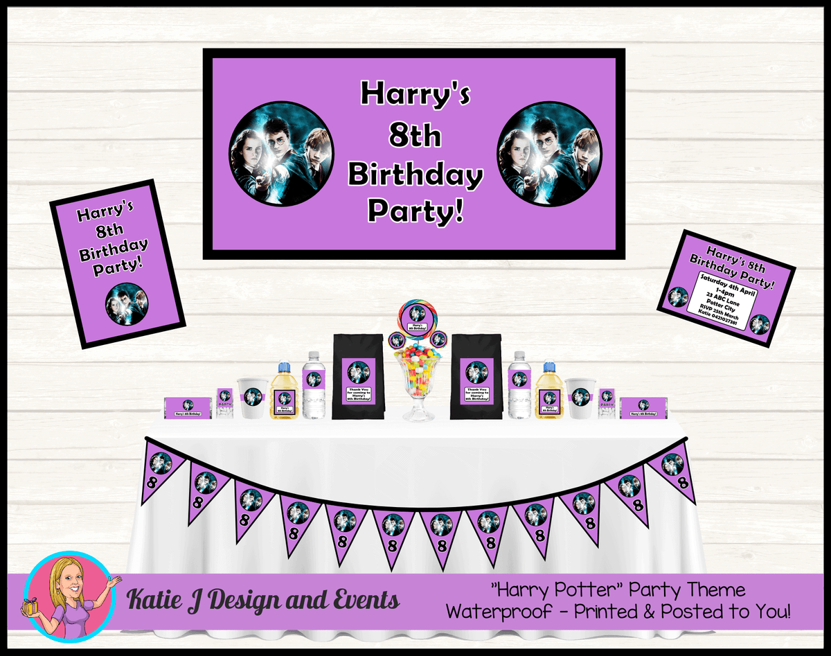 Personalised Girls Harry Potter Party Packs Decorations Supplies
