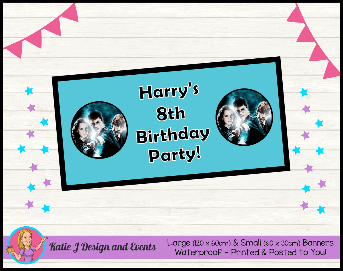 Personalised Harry Potter Birthday Party Banners