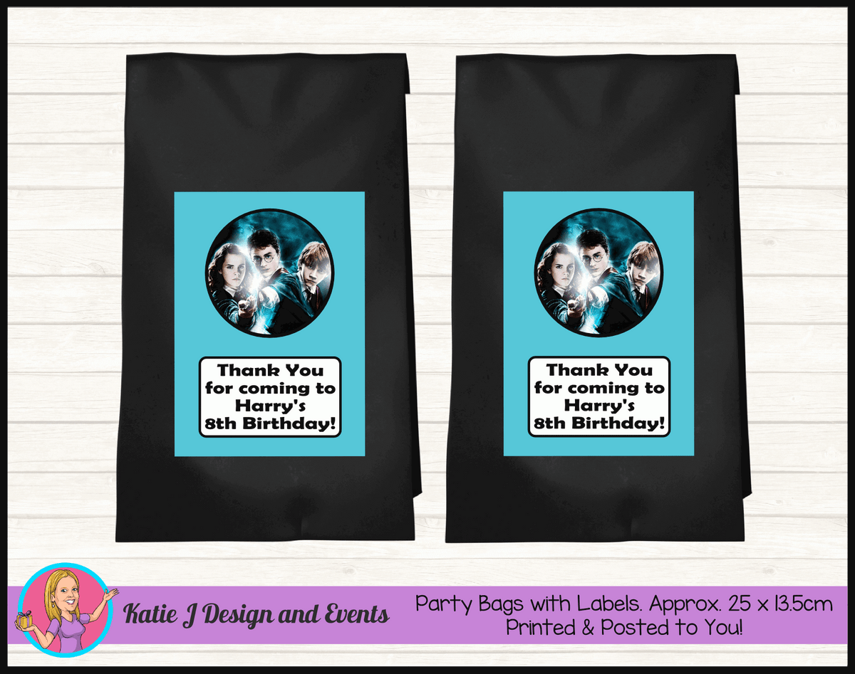 Personalised Harry Potter Birthday Party Loot Bags