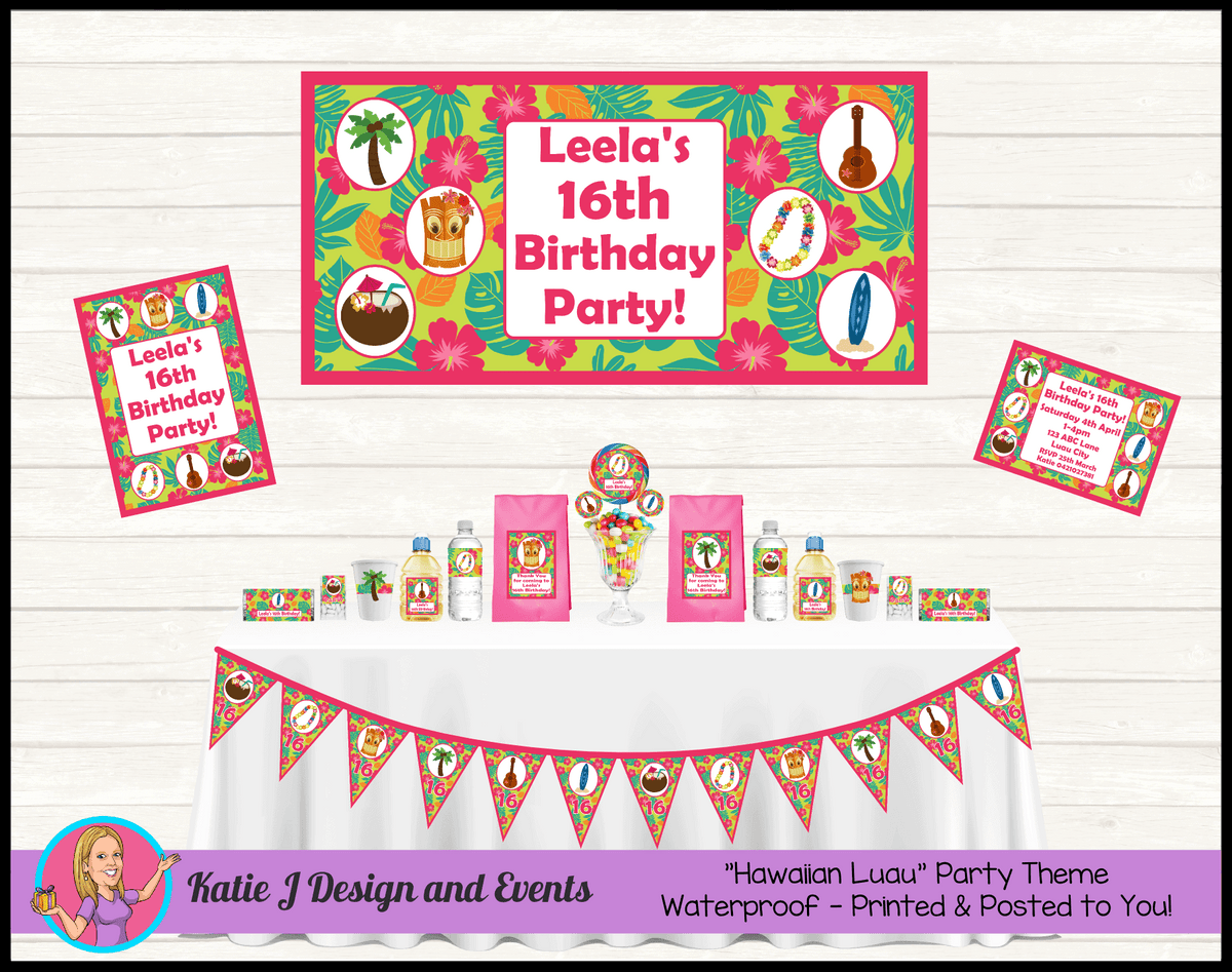 Personalised Ladies Hawaiian Party Packs Decorations Supplies