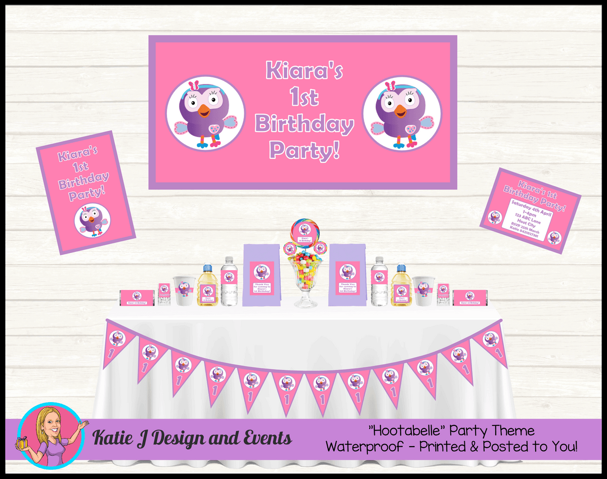 Personalised Hootabelle Party Packs Decorations Supplies