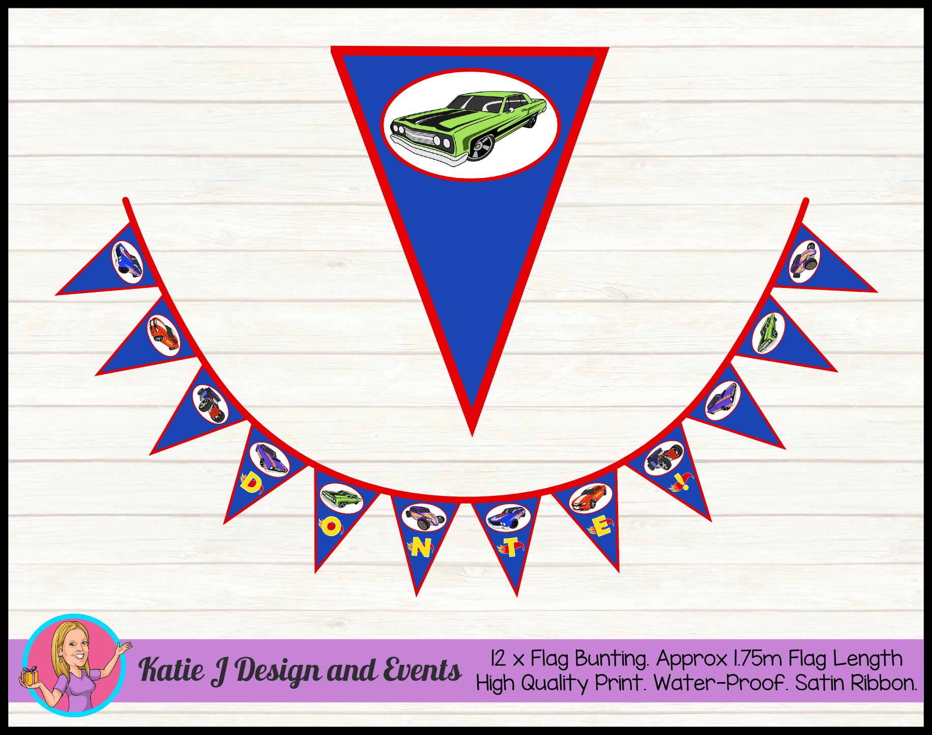 Personalised Hot Wheels Birthday Party Decorations Katie J Design And Events