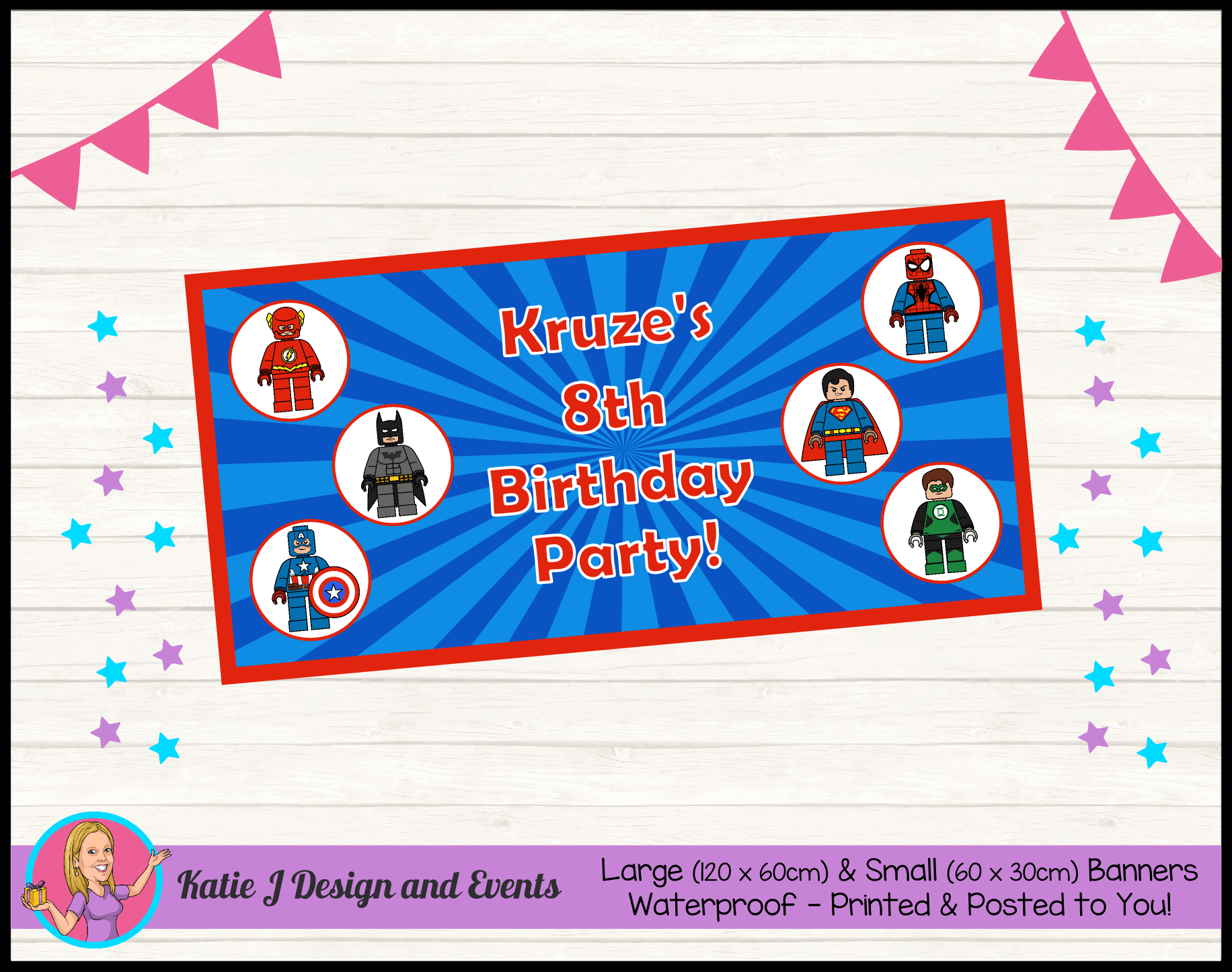 Personalised Lego Superheroes Party Packs Decorations Supplies