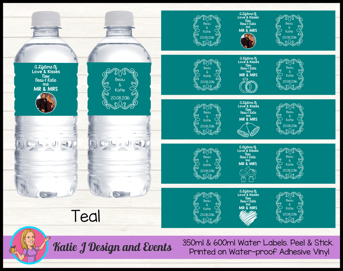 Lifetime of Love Wedding Water Labels