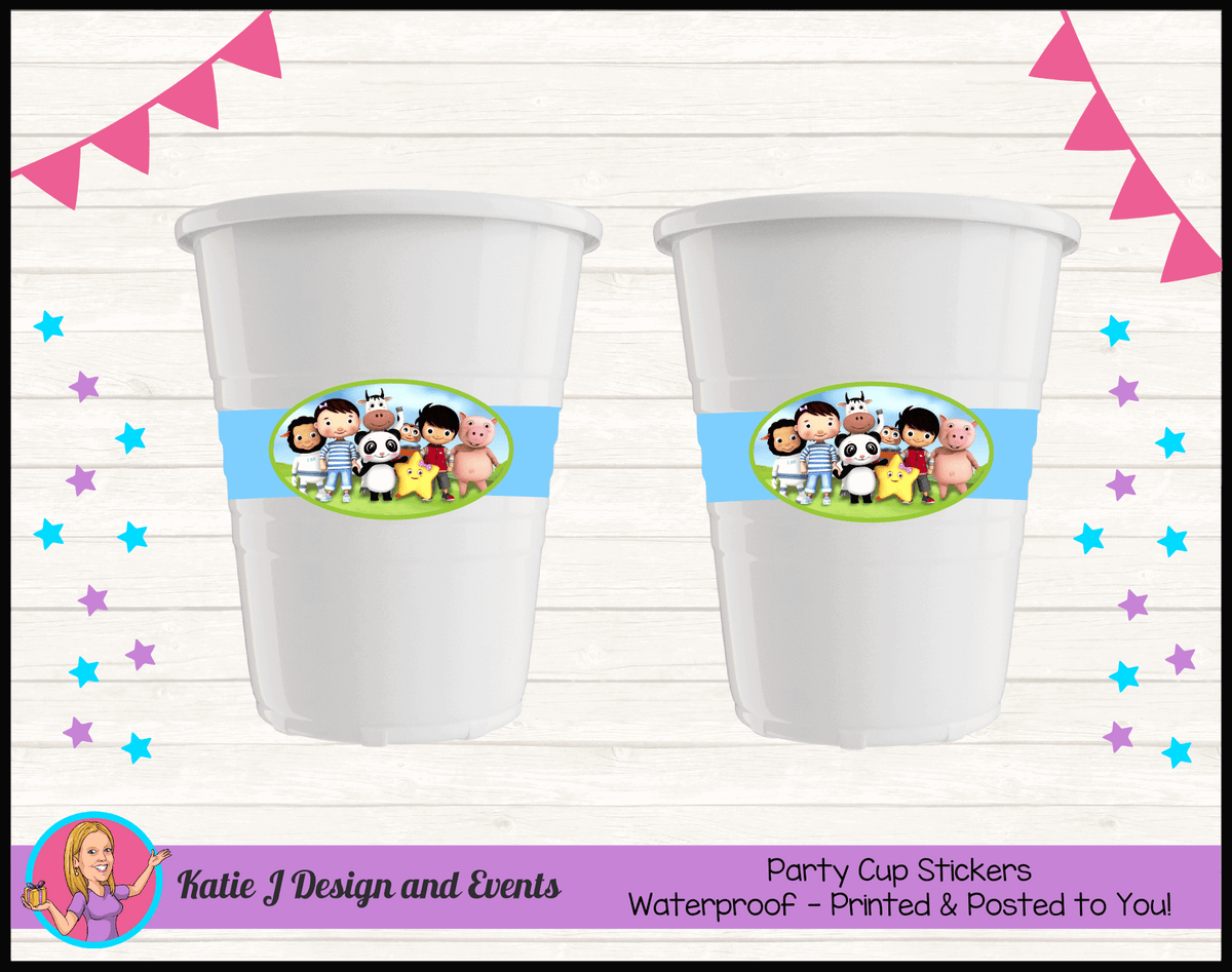 Personalised Little Baby Bum Party Cup Stickers Cups