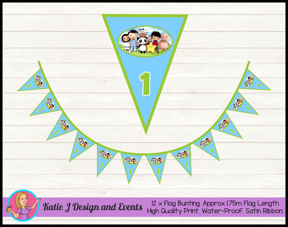 Personalised Little Baby Bum Birthday Party Flag Bunting