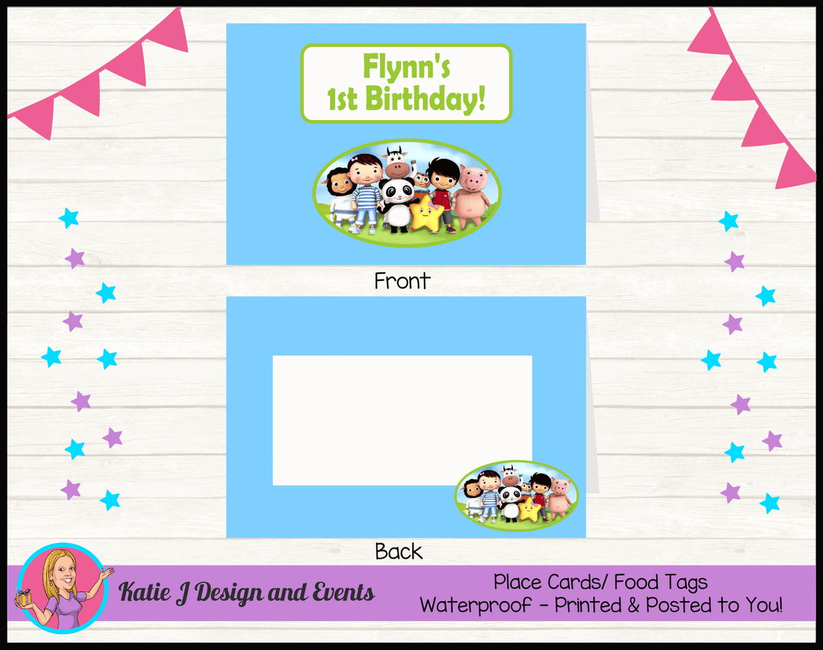 Personalised Little Baby Bum Party Place Cards