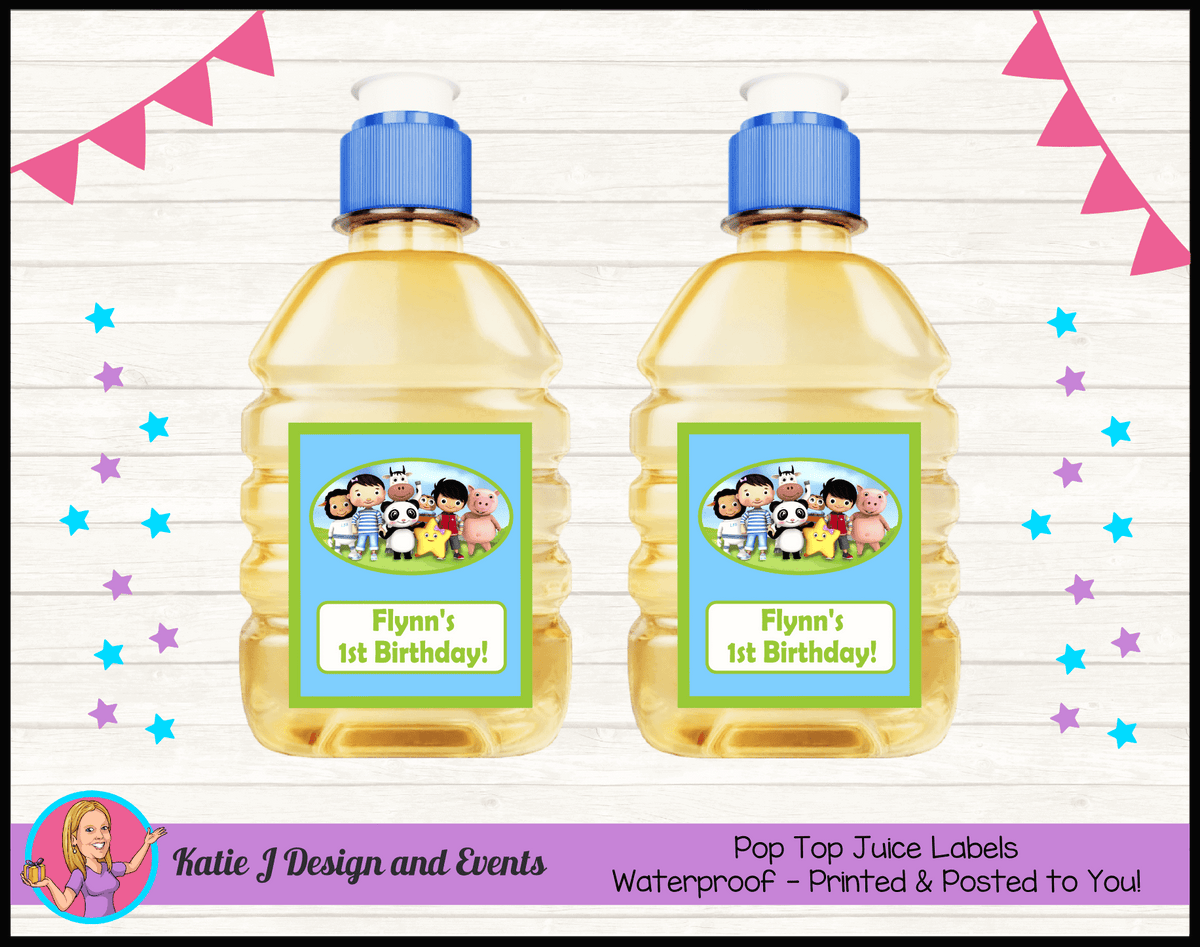 Personalised Little Baby Bum Pop Top Juice Labels
