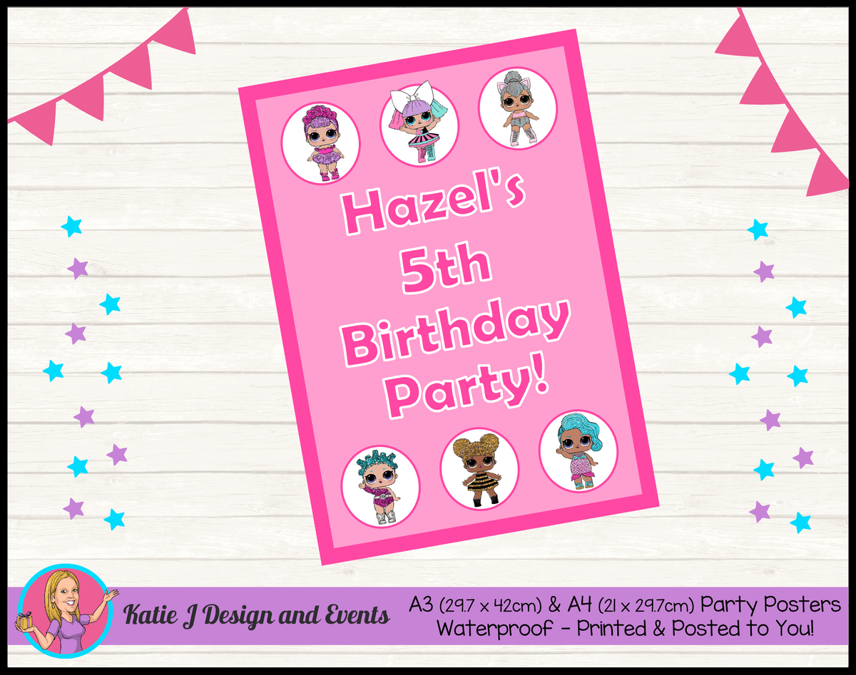 Personalised LOL Surprise Dolls Birthday Party Poster