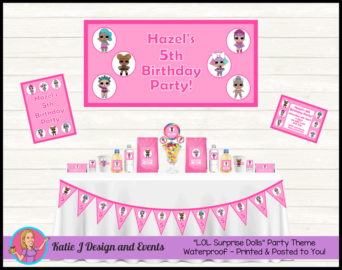 Personalised LOL Surprise Dolls Party Packs Decorations Supplies
