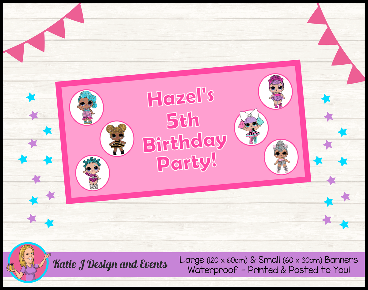 Personalised LOL Surprise Dolls Birthday Party Banner