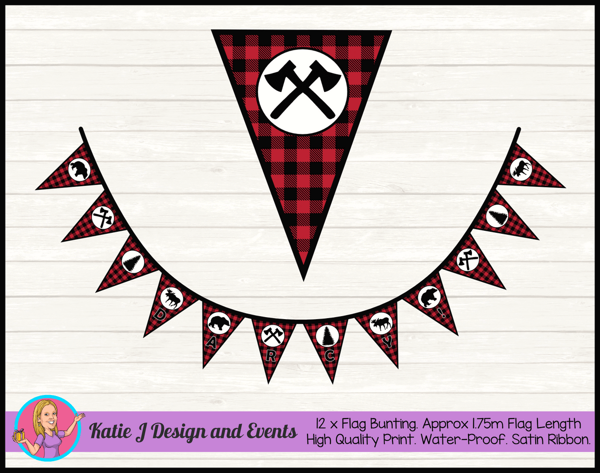Personalised Lumberjack Birthday Party Decorations
