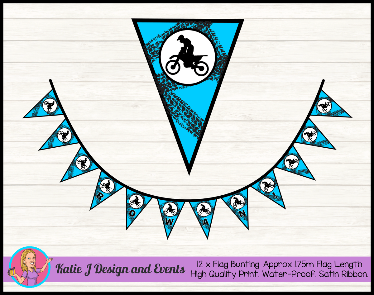 Personalised Motor Bike Birthday Party Decorations