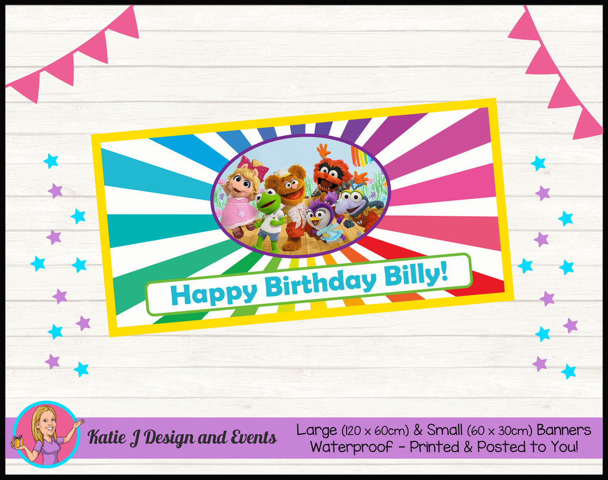 Personalised Muppet Babies Birthday Party Banner