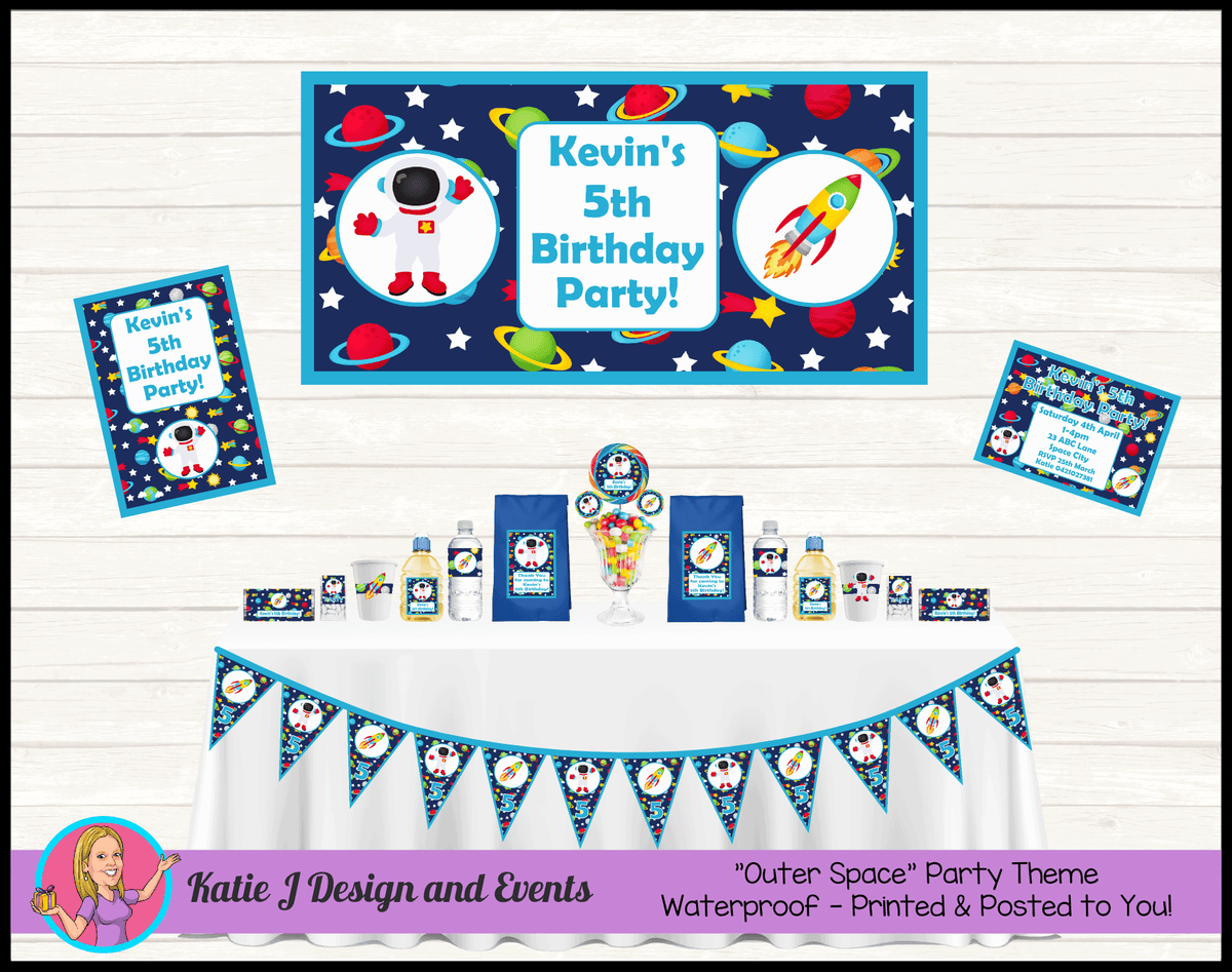 Personalised Outer Space Party Packs Decorations Supplies
