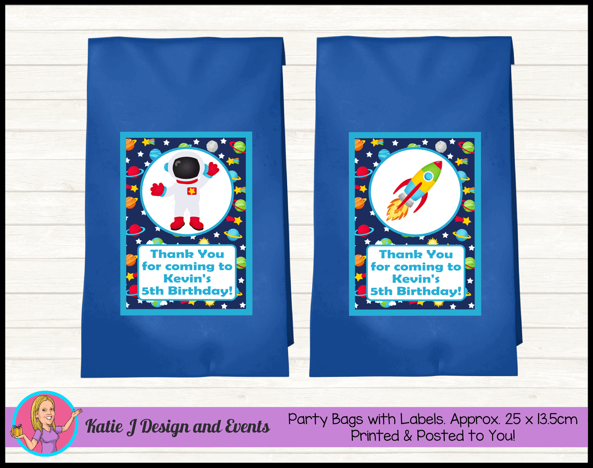 Outer Space Galaxy Personalised Birthday Party Loot Bags